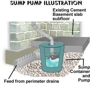 Basement pump servicing